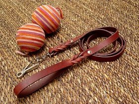 Handcrafted Leather Newfoundland Leash with Quick Release Snap Hook