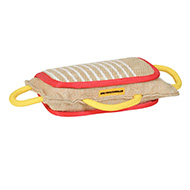 Lightweight Wide Jute Newfoundland Bite Pad with Three Comfortable Handles