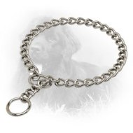 Chrome Plated Newfoundland Choke Collar with 3 mm Links for Obedience Training