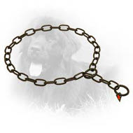 Black Stainless Steel Newfoundland Fur Saver with Small Links