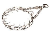 Chrome Plated Newfoundland Pinch Collar with 3.99 mm Prongs