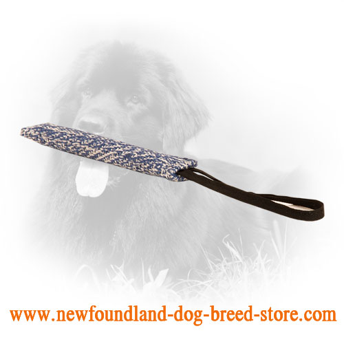 French Linen Newfoundland Bite Tug for Dog Training