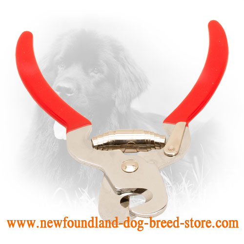 Newfoundland Nail Trimmer with Comfortable Vinyl Handles