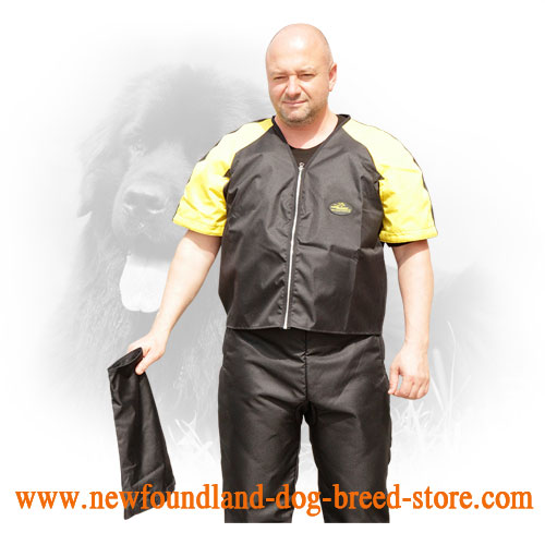 Nylon Scratch Suit with Removable Sleeves for Newfoundland Training