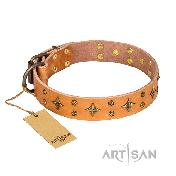 Extraordinary full grain genuine leather dog collar for handy use