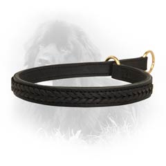 Easy-to-use Newfoundland 2 Ply Leather Choke Collar