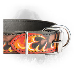 Handpainted Leather Collar