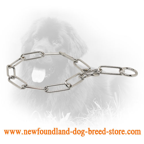 Smooth Chrome Plated Newfoundland Fur Saver for Training