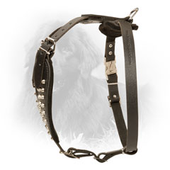 Leather Newfoundland Harness with Click Lock Buckle
