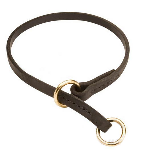 Leather Choke Newfoundland Collar for Training