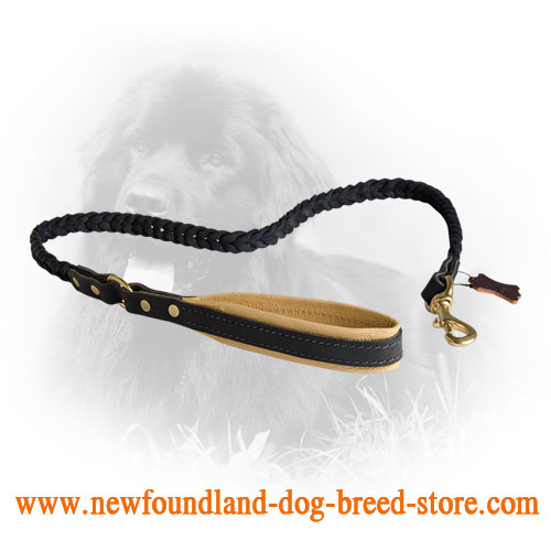 Newfoundland Leash with Nappa Padded Handle