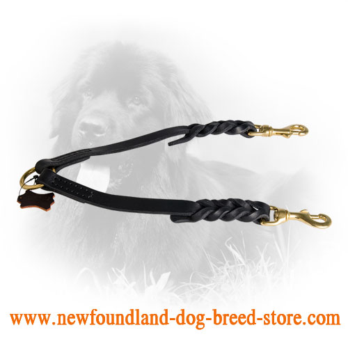 Newfoundland Leather Coupler Decorative Braids