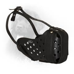 Trim Style Full Comfort Top-Q Leather Dog Muzzle