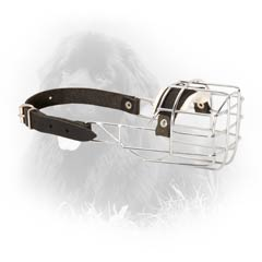 Safe Wire Cage Dog Muzzle For Behavioral Correction