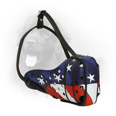 Newfoundland Muzzle with American Flag Painting