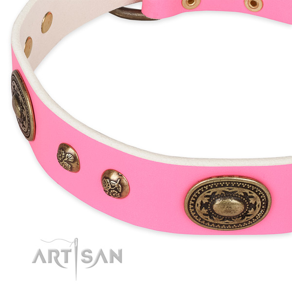 Significant full grain leather collar for your lovely pet
