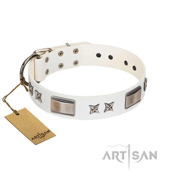 Fine quality dog collar of full grain genuine leather