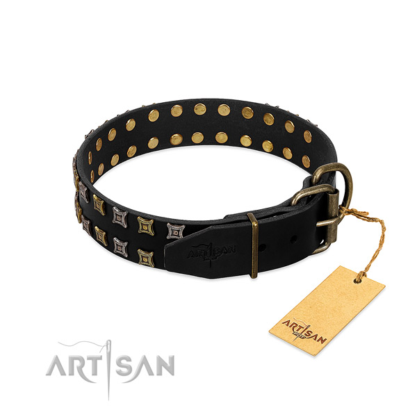 High quality leather dog collar handcrafted for your pet