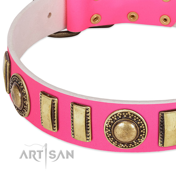 Best quality natural leather dog collar for your lovely canine