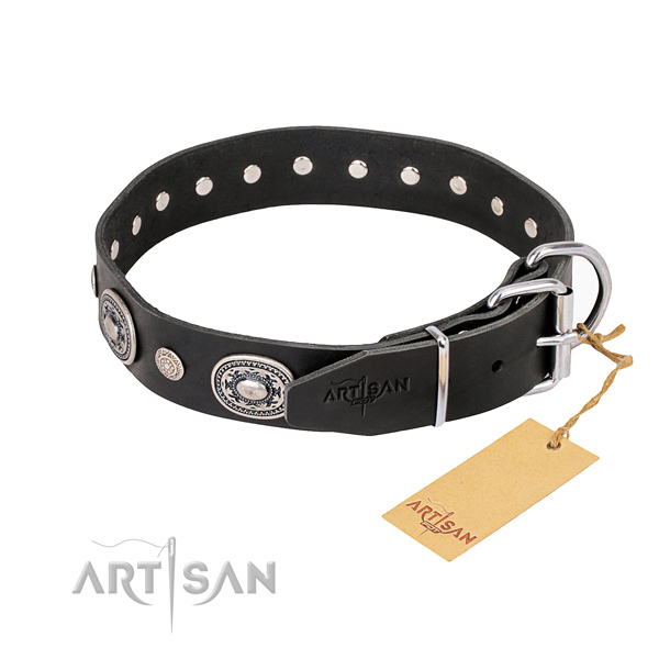 Top notch leather dog collar created for daily use