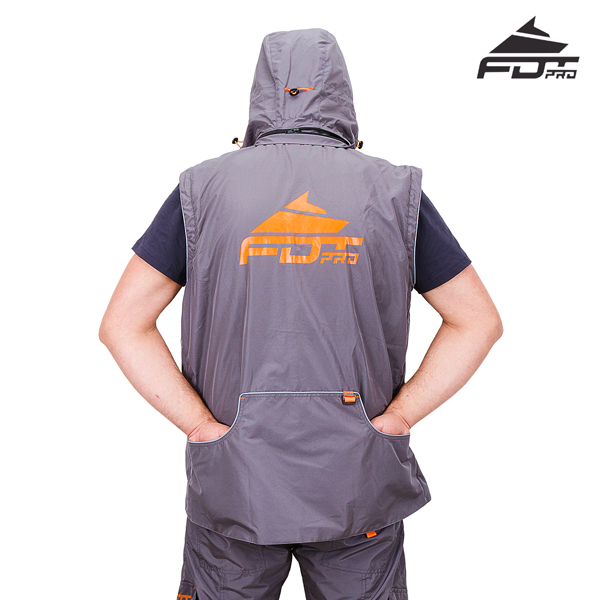 Durable Dog Tracking Suit Grey Color from FDT Pro Wear
