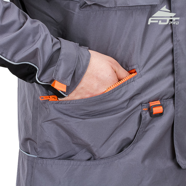 FDT Professional Dog Trainer Jacket with Back Pockets for Any Weather