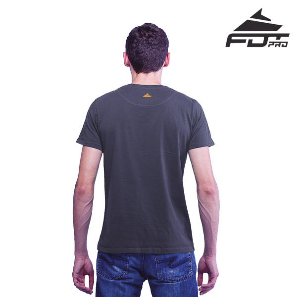 Men T-shirt Dark Grey Color Professional for Dog Walking