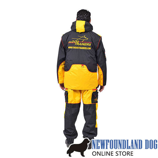 Membrane Fabric Comfortable Dog Training Bite Suit with a Few Pockets