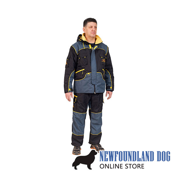 Protection Suit of Weatherproof Material for Safe Training