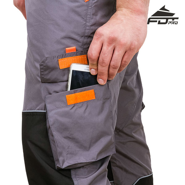 FDT Pro Design Dog Training Pants with Reliable Velcro Side Pocket